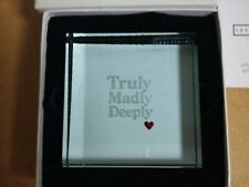 Spaceform London Glass Paperweight - Truly Madly Deeply - NEW in Box