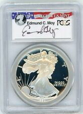 1990-S $1 Proof Silver Eagle PCGS PR70 Ed Moy Signed Red White and Blue Label