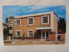 VINTAGE PHOTO POSTCARD THE WIND WHISTLE APARTMENTS FT LAUDERDALE FLORIDA 1957