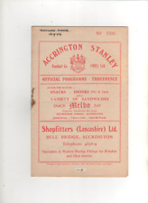 1956-57 Accrington Stanley v Tranmere Rovers 12th September 1956 Division 3North