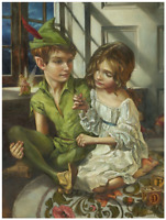Disney Fine Art Limited Edition Canvas Sewn to His Shadow-Peter Pan-Edwards