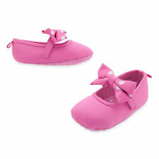 NEW Disney Store Minnie Mouse Mary Jane Pink bow crib Shoes  Sz: 6-12 mos