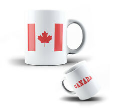 CERAMIC MUG CANADA - COFFEE CUP CANADIAN FLAG
