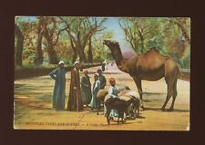 Egyptian Types et Scenes A Happy Family c1900/10s PPC by LL Louis Levy