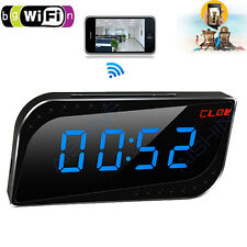 Mini Alarm Clock 720P Wide Angle Spy Camera Wifi Camera Ir Cams Motion Detection