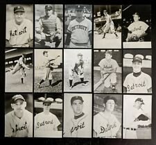 1940s-60s Detroit Tigers RPPC Real Photo Postcards- Beautiful Quality & Cond (68