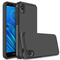 For Motorola Moto E6 Phone Case Shockproof Armor Hard Cover With Screen Protecor