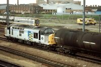 PHOTO  CLASS 158 LOCO NO 158781 - 37705 AT PETERBOROUGH 1991