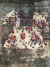 umgee xl top Boho Floral Print
