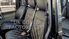 VW TRANSPORTER T4 VAN SEAT COVERS ORANGE BENTLEY STITCH PVC LEATHER X150AORG
