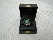 Ladies Multi Stone Sterling Ring 8.5