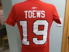 CHICAGO BLACKHAWKS JONATHAN TOEWS JERSEY T-SHIRT SMALL REEBOK