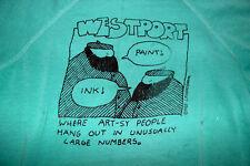 Charlie Podrebarac vintage 1983 Westport artist sweatshirt used M cartoonist