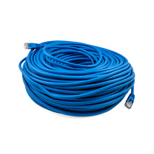 PTC Blue Cat 5e Patch Internet Ethernet LAN Network Computer Cable 200 ft.