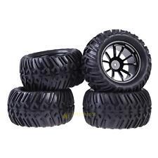 New 4PCS Rubber Wheel Rim & Tires For HSP 1:10 Monster Truck RC Car 12mm Hub