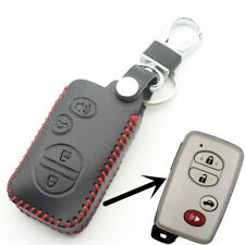 Leather Key Cover Chain For Toyota RAV4 Land Cruiser Avensis Avalon Venza Camry