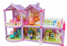 New Peppa Pig Family House PVC Action Figures Peppa Family Villa Playground Toys