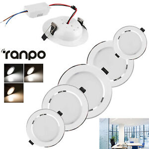 Dimmable LED Recessed Ceiling Downlight 3W 5W 7W 9W 12W 15W 18W Light Lamps RH