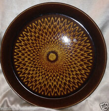 "CROWN LYNN FORMA NEW ZEALAND  10.25"" DINNER PLATE(S) YELLOW FLOWER ON BROWN CRL2"