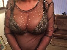 Ladies Beautiful See Through Top.New .Size L.