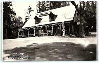 VTG Postcard Real Photo RPPC California CA Summit Lodge Greenhorn Greenville B1