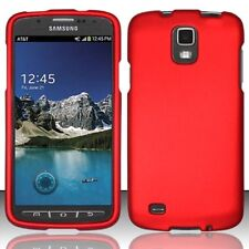 Hard Rubberized Case + Screen Protector for Samsung Galaxy S4 Active i537 -