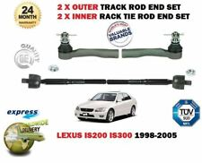 FOR LEXUS IS200 IS300 1999-2005 NEW 2x OUTER & 2x INNER TRACK RACK TIE ROD ENDS