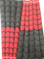 New Set of 9 red and Black jumbo oversize  Dual Compound Golf Grips + Tape mens