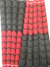 New Set of 13 red and Black dual Compound Golf Grips + Tape
