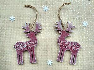 Christmas Home Decor Kit Xmas Navidad Wood Deer Elk Mitten Winter Snow Handmade