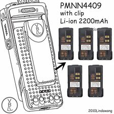 5X PMNN4409 Li-ion Battery For Motorola APX1000 APX3000 APX4000 Portable Radio