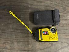Fujifilm FinePix XP140 Waterproof Digital Camera 16.4MP, Yellow - Great Shape