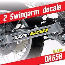 DR650 graphic Swingarm decals stickers Yellow fits Suzuki DR-650