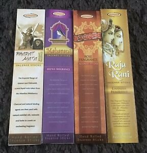 4 Packs Of  Aargee Hand Rolled Incense Sticks 15gms Each
