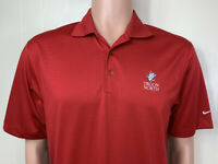 Nike Golf Fit Dry Men's Golf Shirt Polo Size S TROON NORTH Red