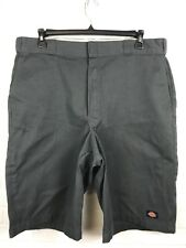 DICKIES LOOSE FIT SHORTS MENS SIZE 40 GREY CELL POCKET COTTON/POLYESTER TT4