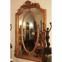 Prunkvoll Antik Prachtvoll Barock Rahmen Spiegel Übermaß 205x115cm Mirror Old