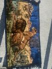 awesome vintage tapestry male and female lion Vibrant Colors