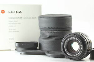 BOXED【UNUSED】Leica Summicron M 35mm F2 Aspherical Black Lens From JAPAN