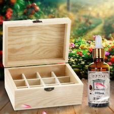 12 Slots Essential Oil Storage Box Wooden Aromatherapy Case Container Organizer