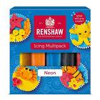 Renshaw Neons Klaar om te Rollen Kleurrijk Fondant Icing Multipack 5 x 100g