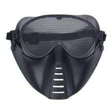 MASQUE DE PROTECTION NOIR POUR AIRSOFT PAINTBALL CHASSE C8U5