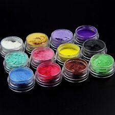 1Set of 12Pcs Mica Pigment Powder Crystal Mud Epoxy Material Diy Colorant New
