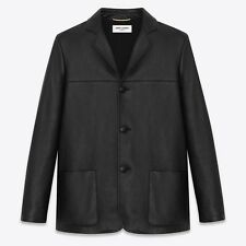 SAINT LAURENT Classic Western Jacket Blazer in Black Leather Size FR 34 — $3,990