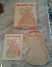 Longaberger 1994 Mama And Baby Bunny Cookie Mold In Original Box