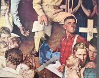 1945 Saturday Evening Post Article Norman Rockwell Art Original Vintage