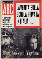 ABC N. 43,1962– Giovanni XXIII,Jean Barthet,B.B.Bardot, Sophia Loren,Ziva Rodann