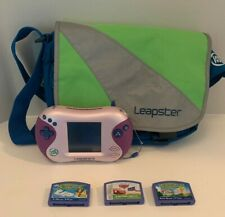 Leapfrog Leapster2 Pink Purple Bag Games Lot