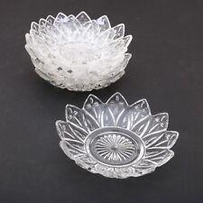 6 Clear Glass Star Shape Nut Bowls