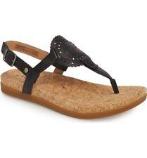 New UGG Women Ayden II Leather Gladiator Sandals Shoes Ankle T Strap Black